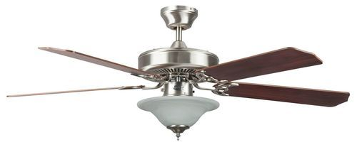 Nevaeh 52 Inch 5 Blade Stainless Steel Ceiling Fan with Light Kit - 52HES5EST