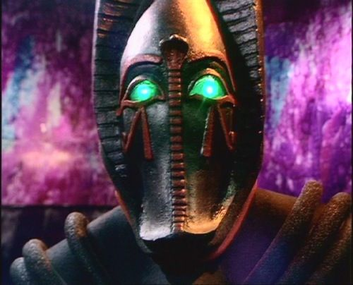 "Sutekh - The Fourth Doctor serial ""Pyramids of Mars"" played with ancient astronaut theories by depicting the ancient Egyptian gods as aliens from the planet Osiris who had visited Earth and imprisoned one of their own, the genocidal Sutekh, in a pyramid (ugh, bad flashbacks to Transformers: Revenge of the Fallen). After Sutekh was freed by an archaeologist, he created an army of robot mummies and took control of the Doctor's will. He forced the Time Lord to take an army of minions to..."