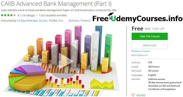 [#Udemy 100% Off] CAIIB Advanced #Bank_Management (Part I)   About This Course  Published 4/2016English  Course Description  Welcome to the course Statistics Regression Analysis.  Once we know the relationship between two variables we will be interested in predicting the value of one variable given the value of the other. This prediction is made possible by Regression Analysis.  Regression is a measure of the average relationship between two or more variables in terms of original units of…