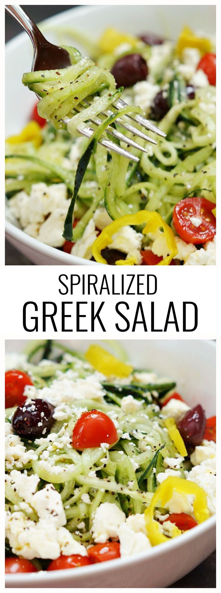 Spiralized Greek Salad