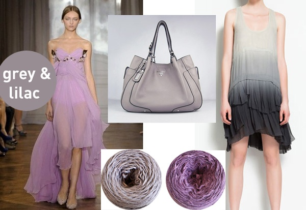 Lilac and Grey: The romantic and feminine lilac is back, softened by the contrast of grey in its various shades. These colours are found in BettaKnit yarns SS 2012 collection!
