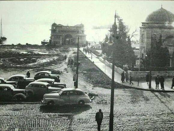 istanbul Beşiktaş iskelesi 1940'lar.