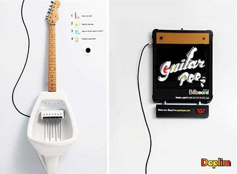 Megitorio guitarra Este megitorio nó solo sirve para hacer pis sino que también podés hacer música mientras haces!