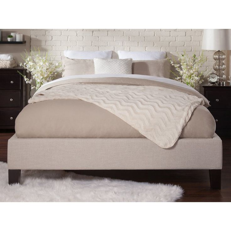 Atlantic Furniture Upholstered Queen Traditional Bed Frame - AU11241034