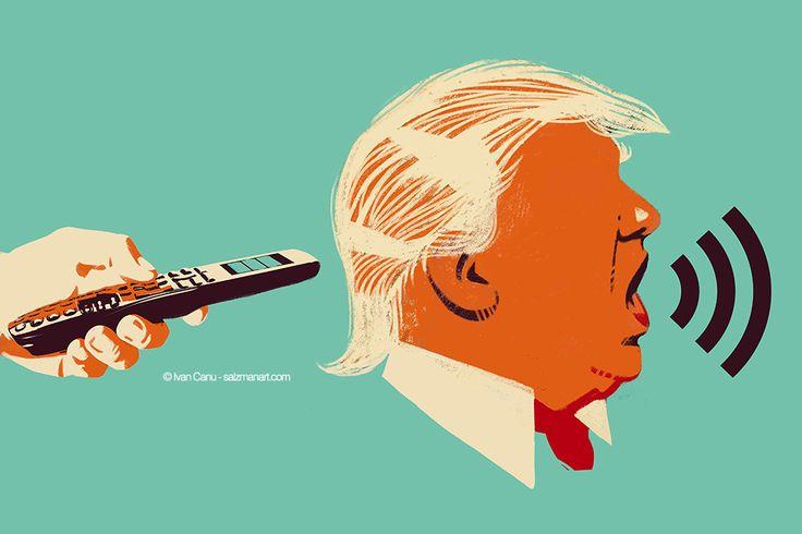 @Ivan Canu salzmanart.com client: die Zeit: Remote control (Trump's series) #editorial #trump #politics #planet #magazine #earth