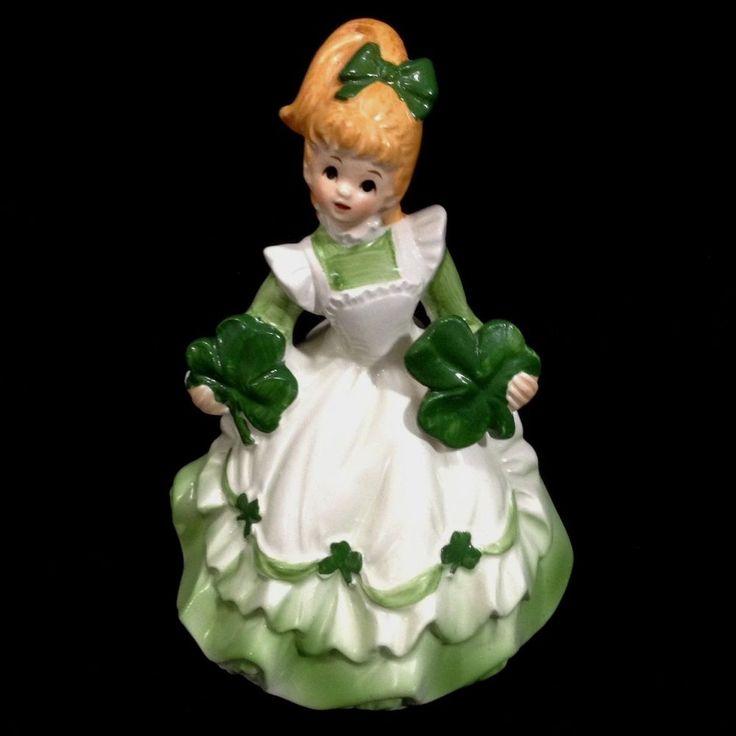 St Patricks Day Lefton Girl Music Box 07857 Shamrock Wild Irish Rose Watch Clip | Collectibles, Holiday & Seasonal, St. Patrick's Day | eBay!