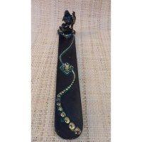 Brûle encens long Bouddha chinois 1 noir et vert