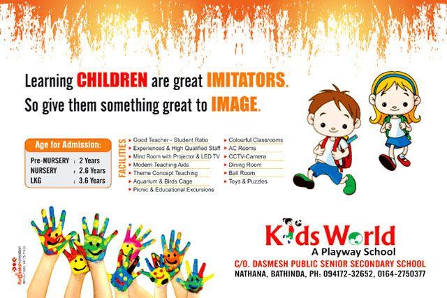 kids school pamphlet design