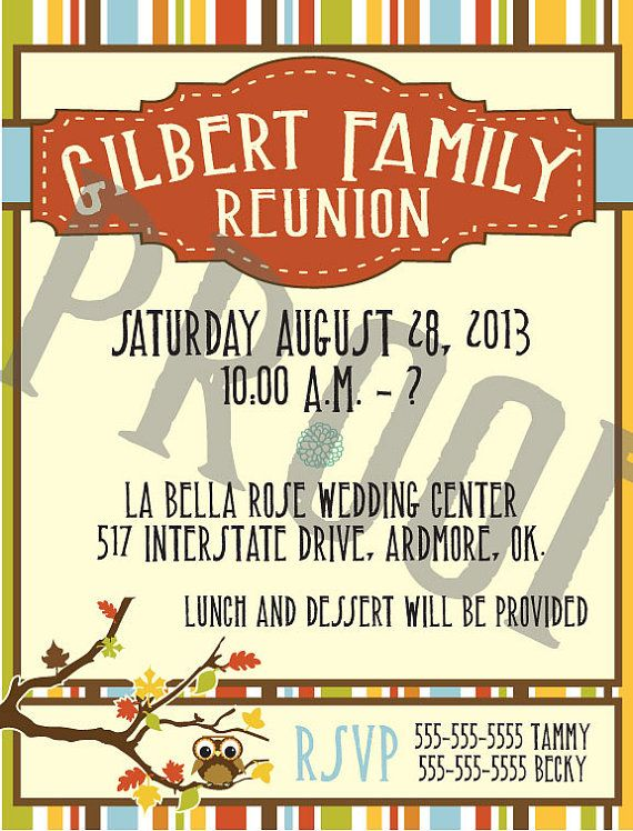 37 Best Family Reunion Invitation Images On Pinterest | Family