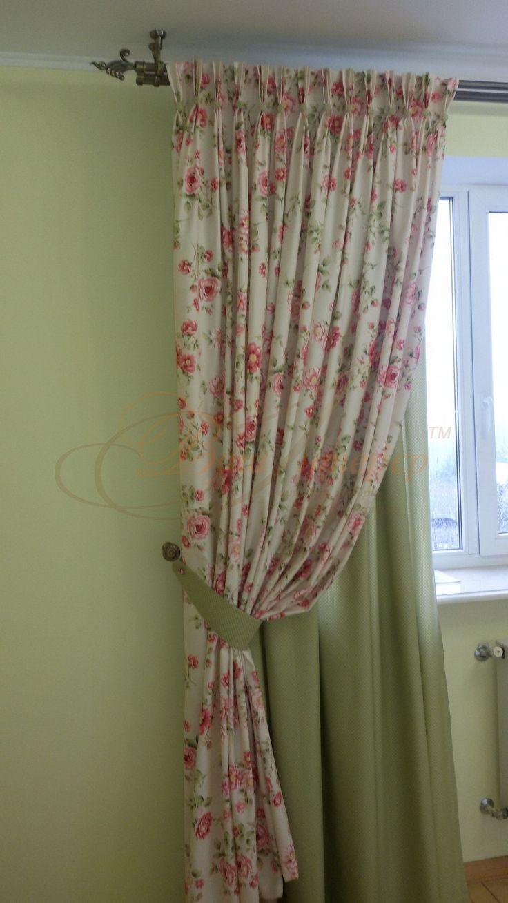 Красиві штори для спальні в стилі прованс #Ваш_Інтерєр #текстиль #спальня