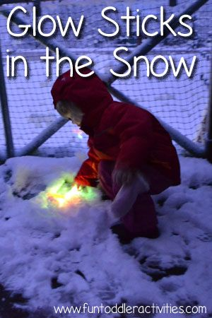 Glow Sticks in the Snow - Simple Fun for Kids