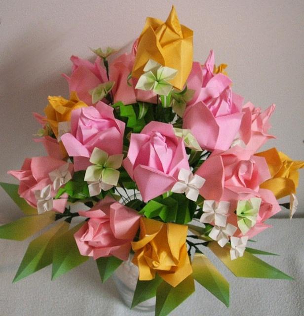 Washinoya - Origami Easter Roses by Washinoya, via Flickr