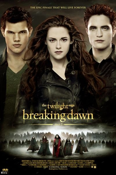Poster of upcoming English movie 'Twilight- Breaking Dawn Part 2'.