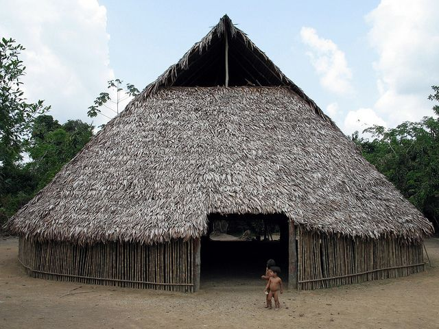 Communal tribal hut (meeting hut) Peru   Flickr - Photo Sharing!