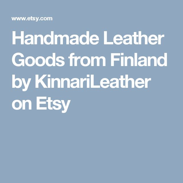 Handmade Leather Goods from Finland by KinnariLeather on Etsy