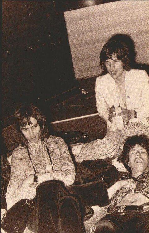Nicky Hopkins, Mick Jagger & Keith Richards Tumblr