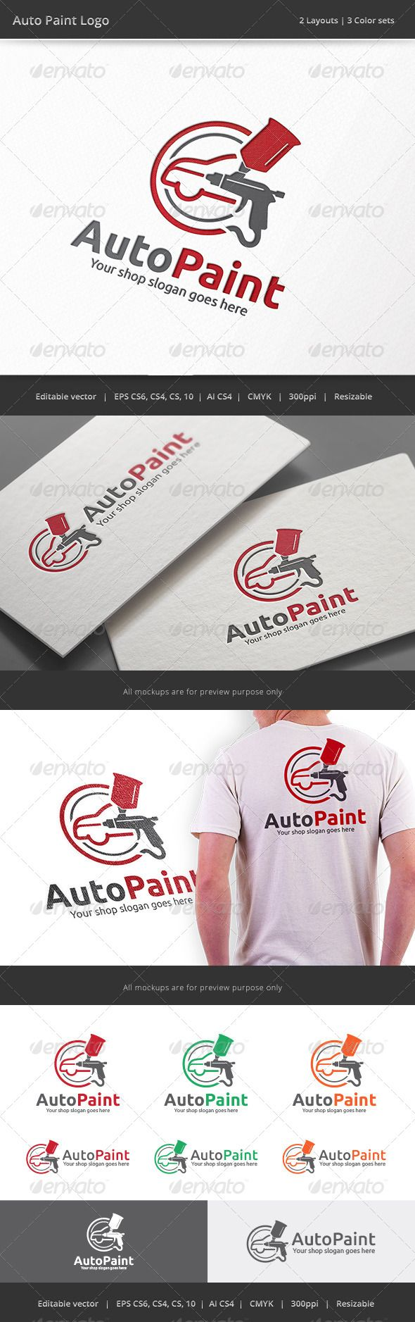 Auto Car Body Paint  - Logo Design Template Vector #logotype Download it here: http://graphicriver.net/item/auto-car-body-paint-logo/8517630?s_rank=115?ref=nexion