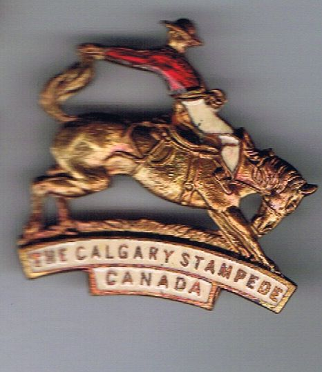 Calgary Stampede pin unknown date