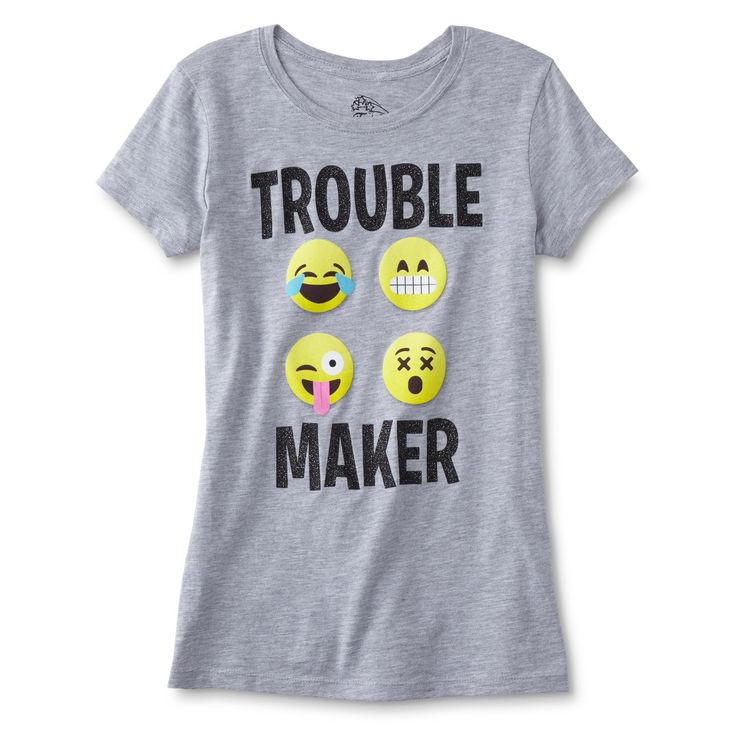 Route 66 Girls' Graphic T-Shirt - Trouble Maker