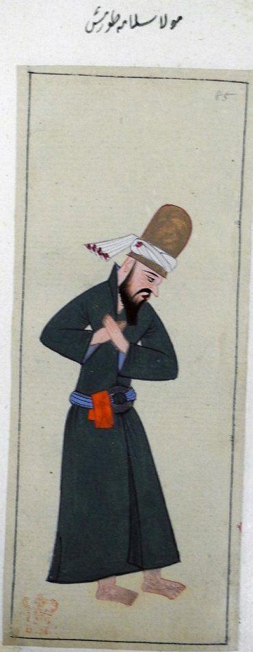 Mevlevi Dervish-1620-Turkey-British Library