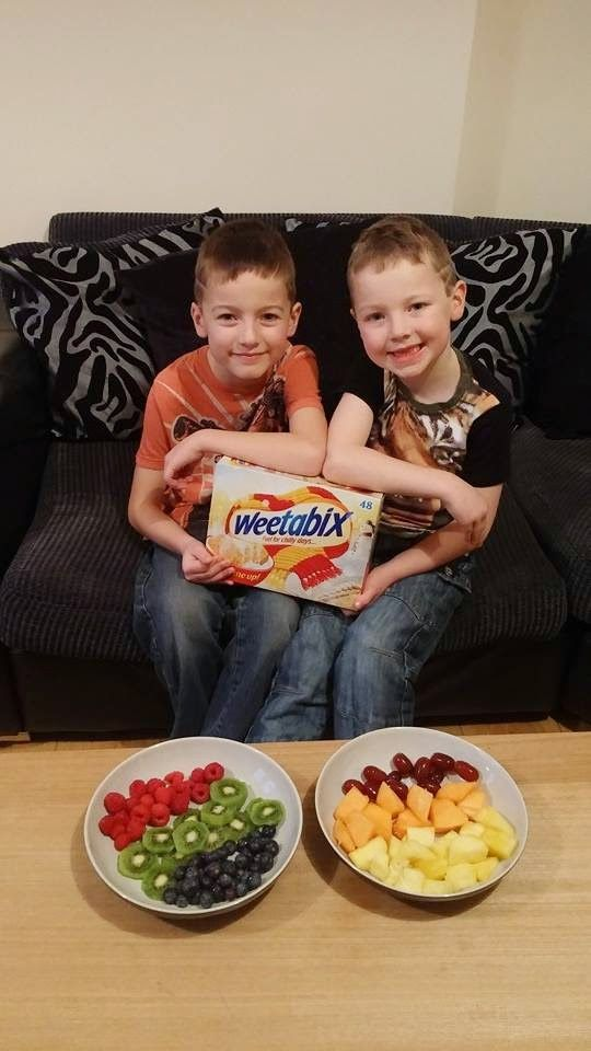 You can have lots of fun with fruit and Weetabix!  Make your own #Weetabuddies character x