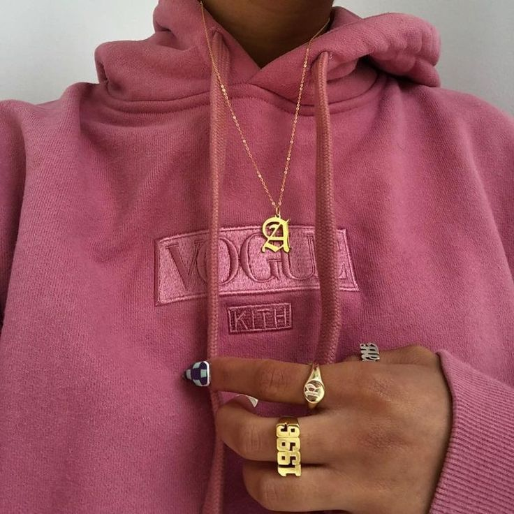 #Places #Pullover #Pink #Pink #Gold #Necklace    – Winter