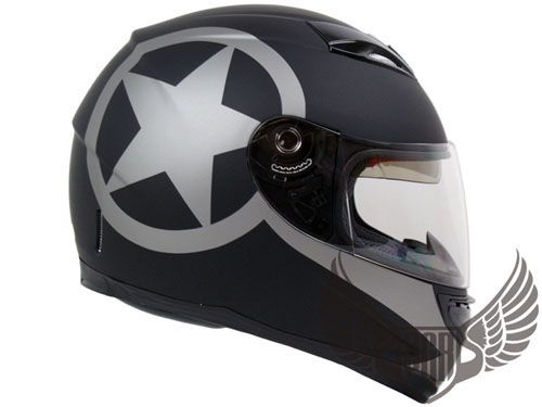 predator motorcycle helmet dot approved | ... Matte Black Dual Visor Full Face DOT APPROVED Motorcycle Helmet