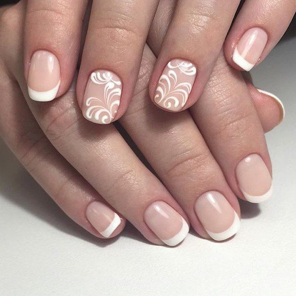 Accurate nails, Classic french manicure, Evening dress nails, Exquisite nails, Festive nails, French manicure with pattern, Nails ideas 2016, Nails trends 2016