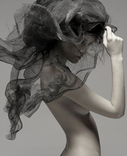 ☫ A Veiled Tale ☫ wedding, artistic and couture veil inspiration - black