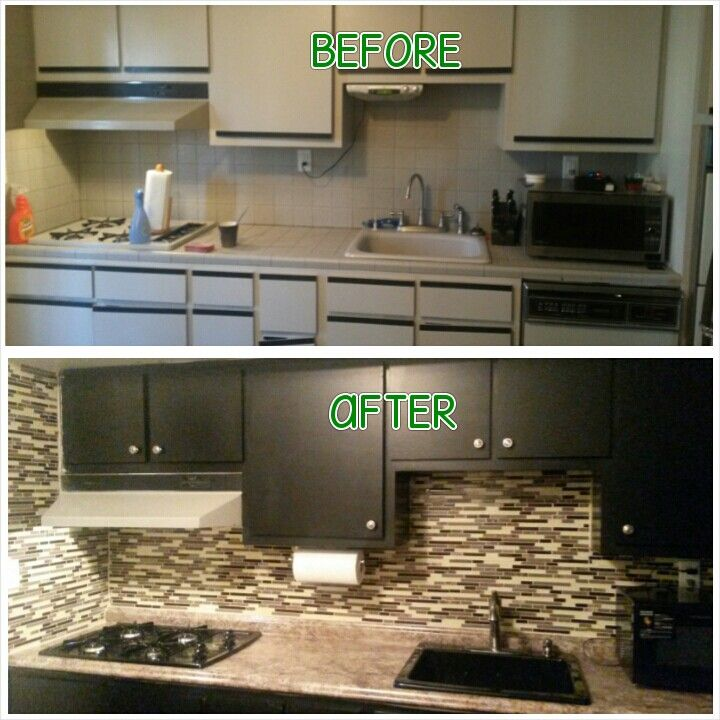 Painted Our Cabinets Using Nuvo Cabinet Paint Kit What A Difference
