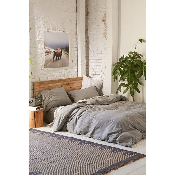 Heathered Jersey Duvet Cover 99 Via Polyvore Featuring