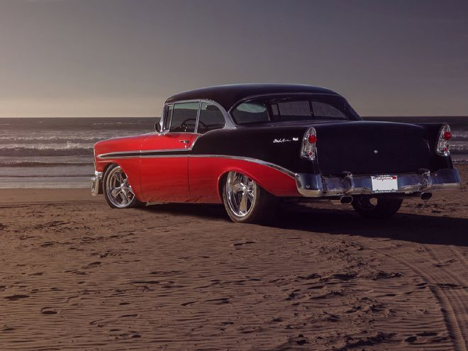 richard fisher s 1956 chevy bel air is the vision of a classic car loving artist