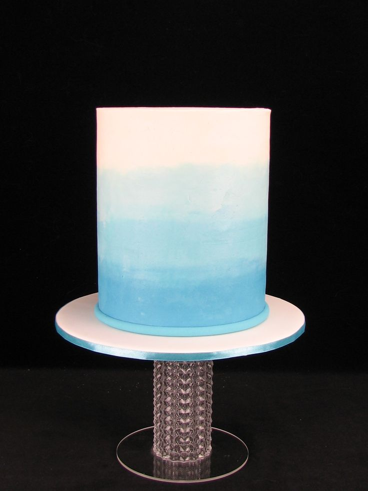 Extended tier chocolate mud cake with chocolate buttercream in beautiful blues.