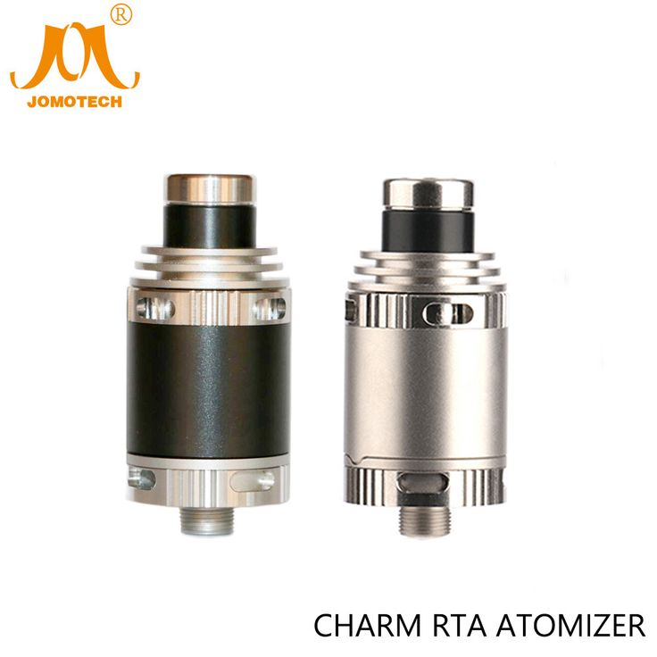 Stainless/Black Rebuildable Atomizer Charm RTA Full SS316 Material Charm DIY Atomizer For Evic VTWO TFV 80W TC Mod Jomo-194 #Affiliate