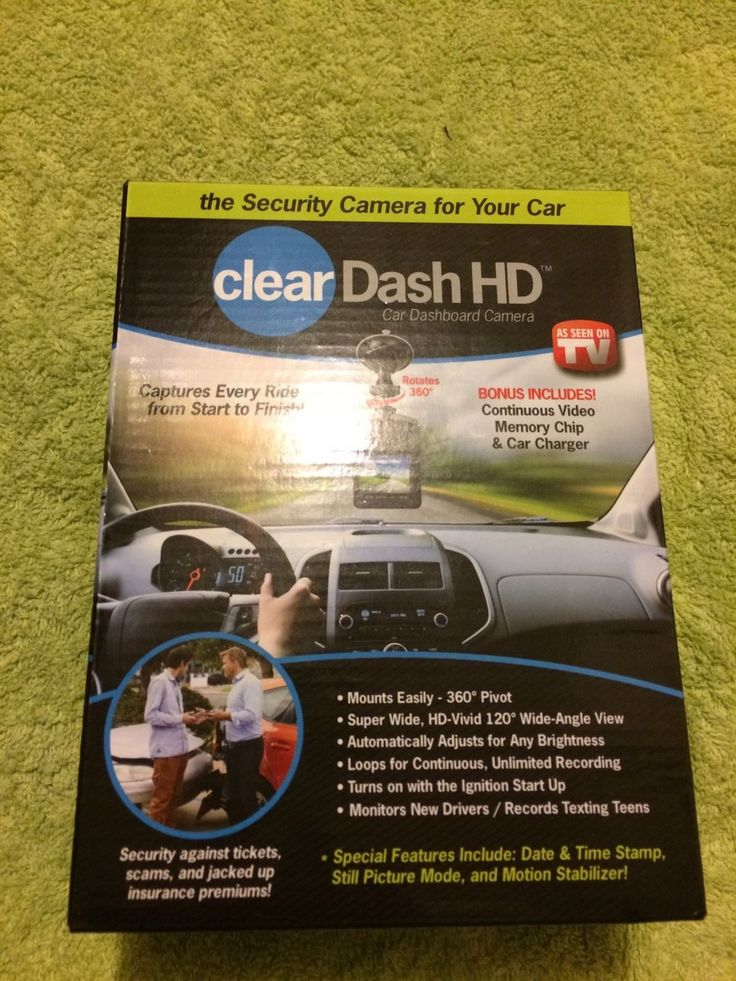 ClearDash HD Security Camera For Your Car 32 GB Get Out of Tickets Prove Cases