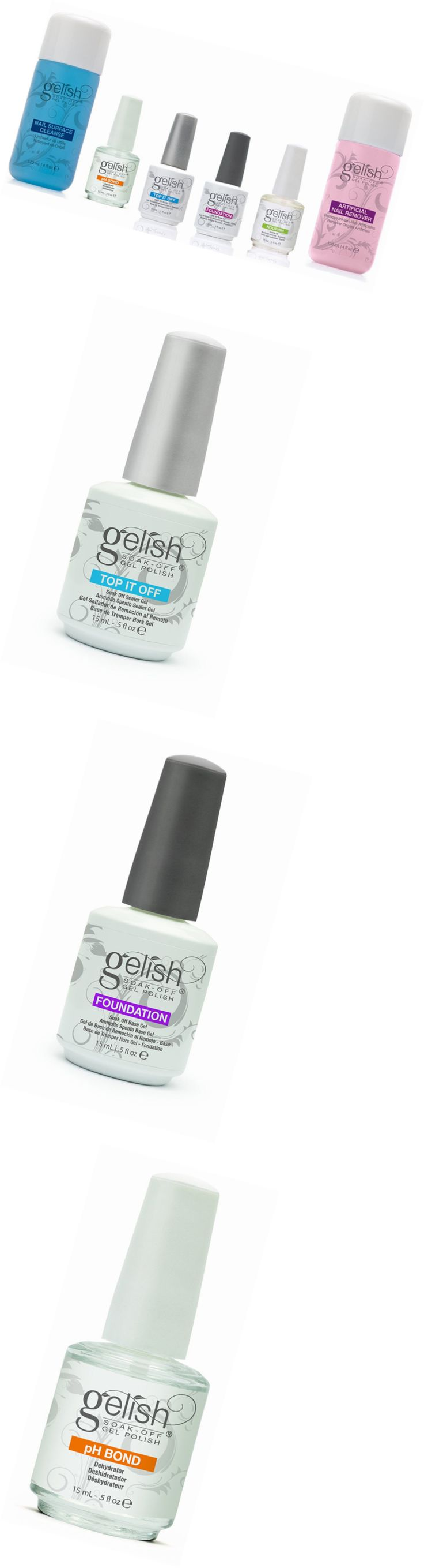 Nail Polish Remover: New Gelish Full Size Gel Nail Polish Basix Care Kit (15Ml) + Remover And Cleanser -> BUY IT NOW ONLY: $47.28 on eBay!