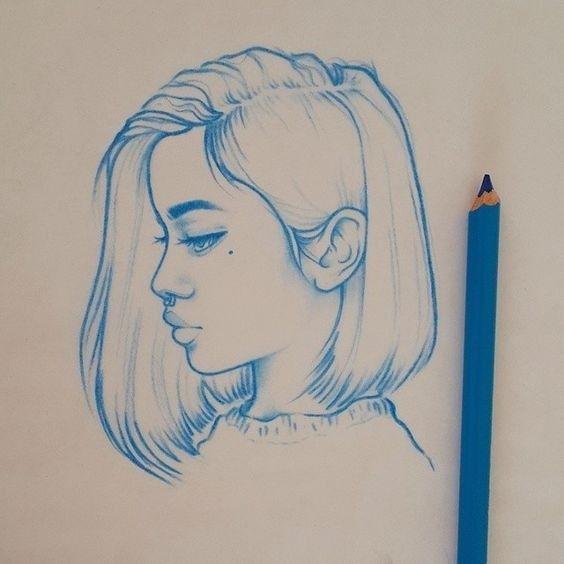 Quem disse que é preciso ter cabelo comprido para ser feminina? Crédito/desenho: http://ift.tt/2oBvEsm