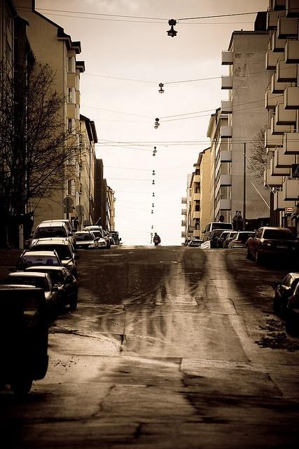 November in Kallio, Helsinki. Love it, too.