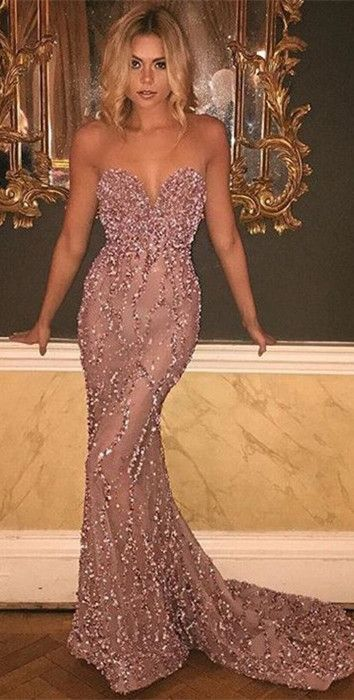 Gorgeous Sweetheart Mermaid Beadingd Evening Prom Dress 2018 From 27dress.com. Extra $20 OFF, Coupon Code:20171104. #mermaidpromdress #fashionstyle #holidaydress #2018eveningdress #shopping #onlineshopping #holidaydress