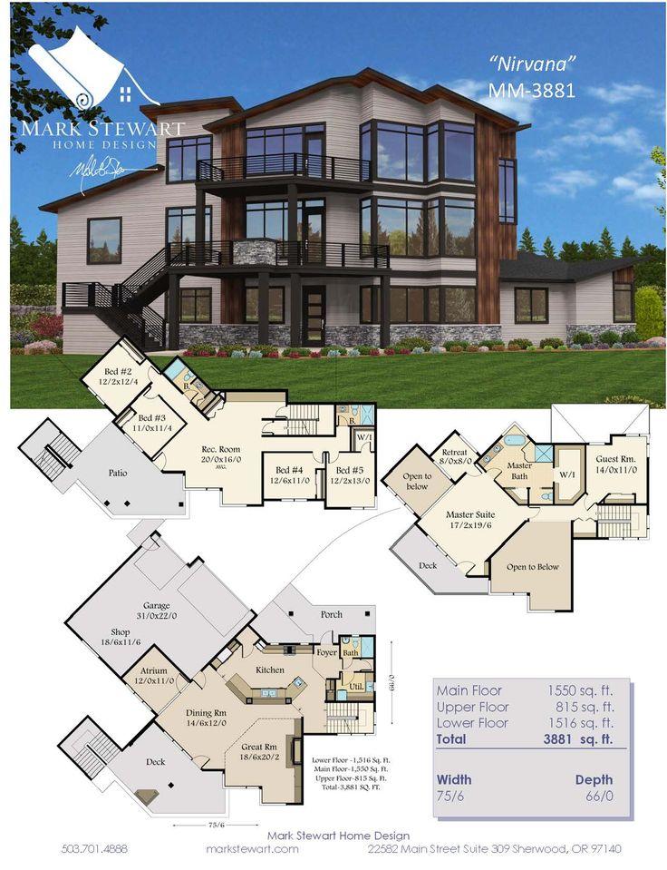 39 best Modern Home Plans images on Pinterest | Modern home plans ...