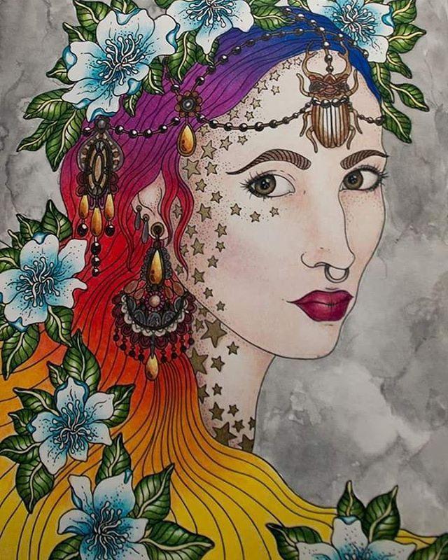 Raissa ❤ Love this picture :) #hannakarlzon #sommernatt #coloringbookforadults…
