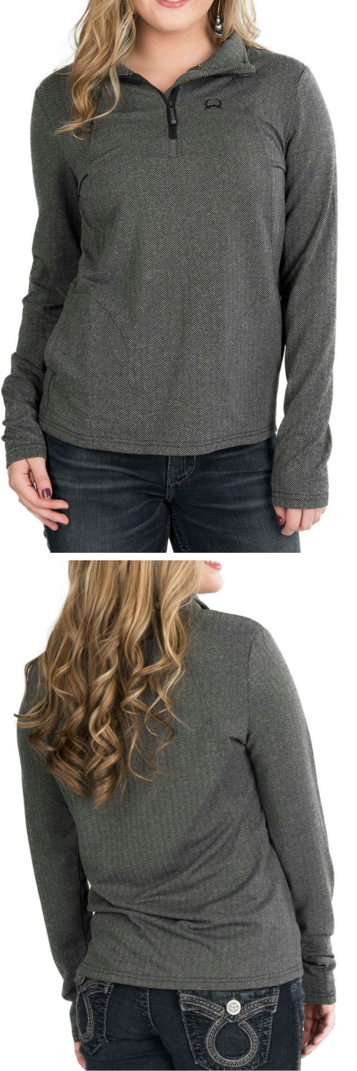Cinch Women's Grey Long Sleeve Pull Over Jacket
