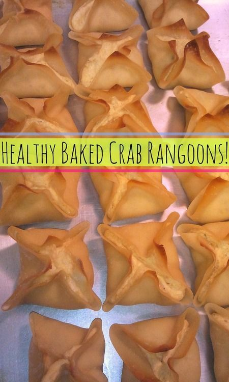 Healthy & Light Baked Crab Rangoons! #superbowl #appetizers