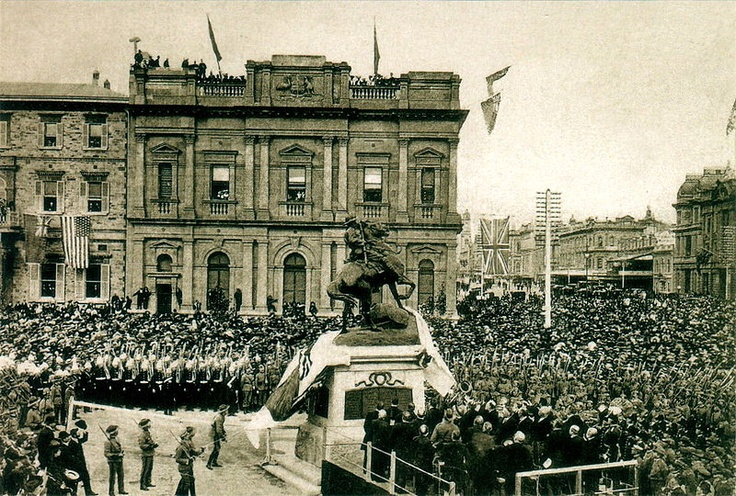The unveiling ceremony for the South African War Memorial in Adelaide, South Australia on the 6th of June, 1904.