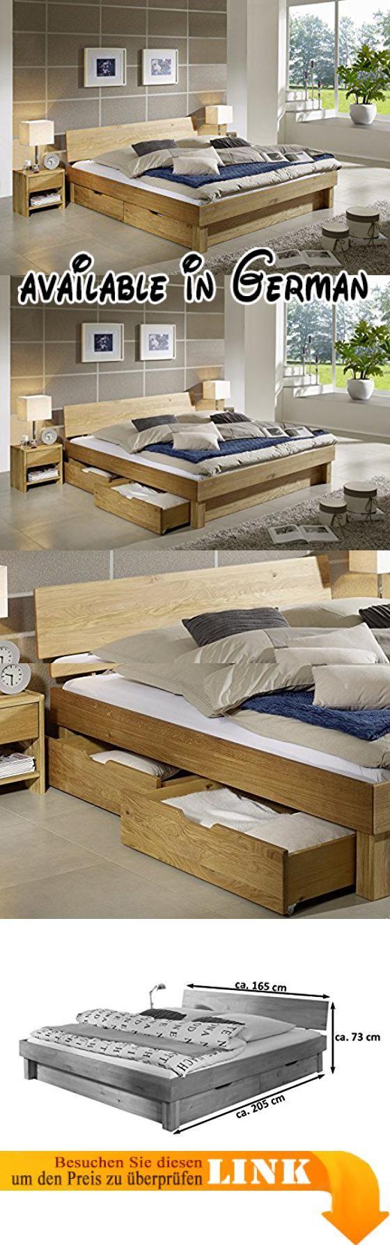 Superior B01J3FOWD8 : SAM Massiv Holzbett Columbia Mit Bettkästen In  Wildeiche Bett Mit Geschlossenem Kopfteil Natürliche