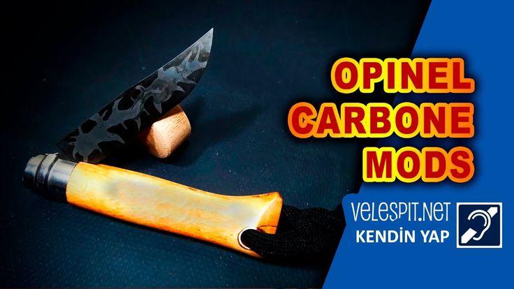 Opinel No:8 Çakı Modlama   Kendin Yap   Opinel Carbone Çakıyı Damascus Y...
