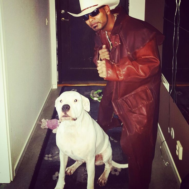 Cowboy Man with Dogo Argentino