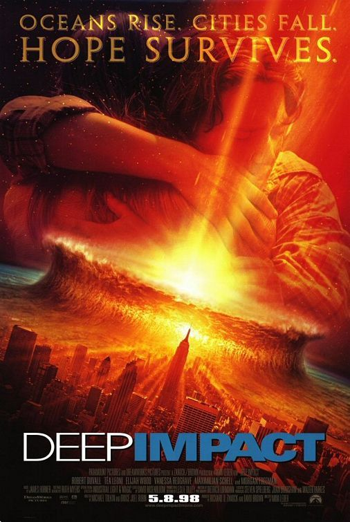 Watch the movie trailer for Deep Impact (1998) on Movie-List. Directed by Mimi Leder and starring Morgan Freeman,Tea Leoni, Robert Duvall and Elijah Wood. As a comet is on a collision course with earth, humans have to prepare for their survival. They randomly select eight hundred thousand people to be saved in order to keep the human race alive.