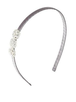 Marie Hayden Women's Rhinestone Button Headband (Grey/Crystal)
