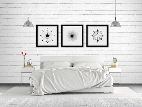 Sunburst Trio Series Wall Art Printable  3 by NordicPrintStudio